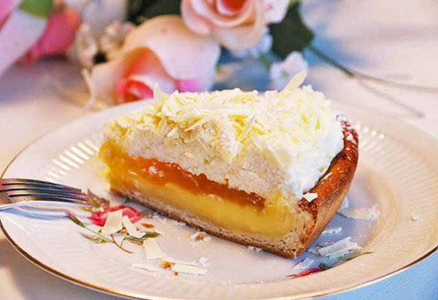 A Smurfs pie slice.